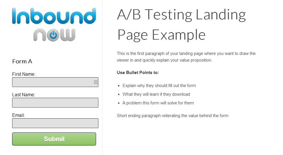 optimiser landing pages